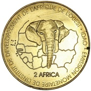 3000 Francs / 2 Africa (IDAO Coinage; Lion) – reverse