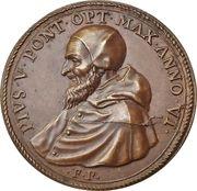 Naval battle of Lepanto - Pius V – obverse