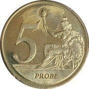 5 (Vatican City Euro Fantasy Token) – reverse