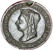 Medal - Queen Victoria Jubilee Exeter 1887 – obverse