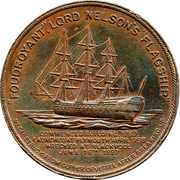 Medal - Admiral Horatio Lord Nelson – reverse