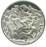Medallion - The Genius of Michelangelo (Battle of the Centaurs) – obverse