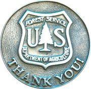 US Forest Service volunteer token – obverse