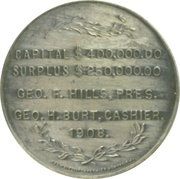 Silver Medal of Whitehead and Hoag Company – reverse