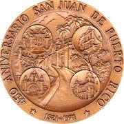 450 Aniversario San Juan De Puerto Rico – obverse