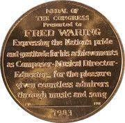 Token - Fred Waring – reverse