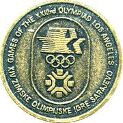 Medallion - Olympic Games Sarajevo - Los Angeles 1984 – reverse