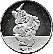 Walt Disney's Snow White 50th Anniversary - Happy – obverse