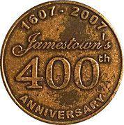 Medal - Jamestown's 400 th Anniversary (Williamsburg; Virginia) – obverse