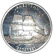 Medal - Jamestown's 400 th Anniversary (Jamestown; Godspeed) – reverse