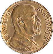Medal - Tomáš G. Masaryk (85th birthday) – obverse