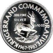 1/10 Ounce Silver (Kruger Commemorative) – reverse