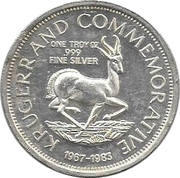 1 Ounce Silver (Krugerrand Commemorative) – reverse