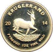 1 Krugerrand (1 oz Gold; Kruger Commemorative) – reverse