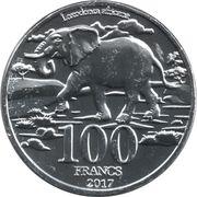 100 Francs (Big Five: Elephant) – reverse