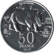 50 Francs (Big Five: Rhino) – reverse