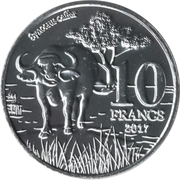 10 Francs (Big Five: Buffalo) – reverse