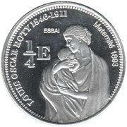 ¼ Euro (Mayotte Euro Fantasy Token) – reverse