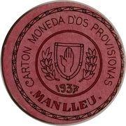 25 Céntimos (Manlleu) – obverse