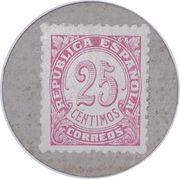 25 Céntimos (Manlleu) – reverse