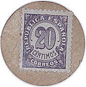 20 Céntimos (Spain) – reverse