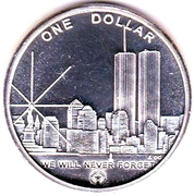 1 Dollar (Freedom Tower) – reverse