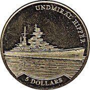 5 Dollars - Elizabeth II (Undmiral Hipper) – reverse