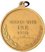 Medal - Dinner with Ike – reverse