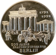 Medal - Helmut King 200 Years Brandemburg Gate Berlin – obverse