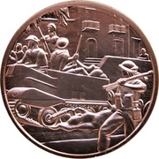 Medal - Canada Remembers (Entry into Assoro, Sicily) – obverse