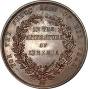 Medal - Award for literature in Liberia – reverse