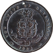 Medal - Australian Commonwealth, State of Queensland – obverse