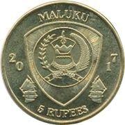 5 Rupees (Zebrasoma Pazifischer) – obverse