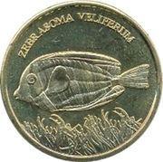 5 Rupees (Zebrasoma veliferum) – reverse