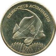 5 Rupees (Heniochus acuminatus) – reverse