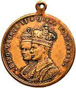 Medal - Coronation of King George VI & Queen Elizabeth (Victoria) – obverse