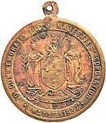 Medal - Coronation of King George VI & Queen Elizabeth (Victoria) – reverse