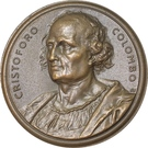 Medal - Italian navigation and Cristoforo Colombo – obverse