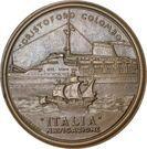 Medal - Italian navigation and Cristoforo Colombo – reverse