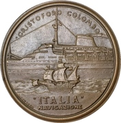 Medal - Italian navigation and Cristoforo Colombo – reverse