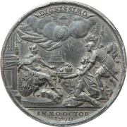 Medal - Crowning of Leopold II – reverse