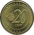 20 Cent (Cartago Fantasy Issues) – reverse