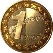 1 Europ (Norway Euro Fantasy Token) – reverse