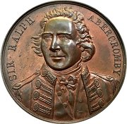 Medal - Sir Ralph Abercromby (Centenary of the capture of Trinidad) – obverse