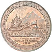 Medal - Sir Ralph Abercromby (Centenary of the capture of Trinidad) – reverse