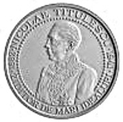 125th anniversary of birth of diplomat Nicolae Titulescu - Silvered Tombac – obverse