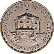 Göteborg Tercentenary – reverse