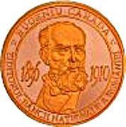 Eugeniu Carada - founder of the National Bank of Romania - Bronze – obverse