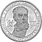 Eugeniu Carada - founder of the National Bank of Romania - Silver – obverse