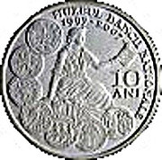 The 10th anniversary of the re-establishment of the National Bank of Romania Museum - Silver – obverse
